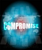 Business concept: word compromise on digital touch screen — Stock Photo