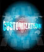 Customization word on digital binary touch screen — Stock Photo
