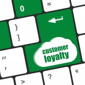 Button keypad key with customer loyalty word — Stock Photo