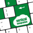 Computer keyboard with vertical integration words — Stock Photo #66350469