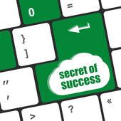 секрет успеха кнопки на клавиатуре компьютера — Стоковое фото