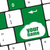 Your name button on keyboard - social concept — Stock Photo