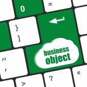Business object - social concepts on computer keyboard, business concept — Stock Photo