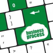 Tasto della tastiera con pulsante di processo di affari, concetto di business — Foto Stock
