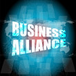 Management concept: business alliance words on digital screen — Stock Photo #67101801