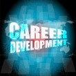 Business concept: career development words on digital screen — Stock Photo #67102105