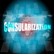 Management concept: consularization words on digital screen — Stock Photo #67102325