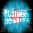 Management concept: business technology words on digital screen — Stock Photo #67103133