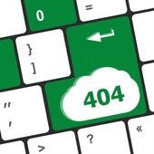 404 code button on keyboard keys — Stock Photo