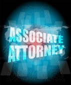 Associate attorney words on digital screen — Stock Photo