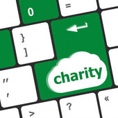 Keyboard key for charity - business concept — Stock Photo