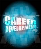 Business concept: career development words on digital screen — Photo