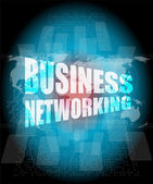 Business networking icon on digital screen — Stock Photo