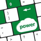 Computer keyboard - key power — Stock Photo