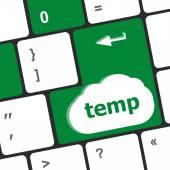 Computer keyboard - key temp, close up — Stock Photo