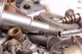 Different screws and other parts, close up — Stock Photo
