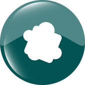 Glossy cloud web button icon — Stock Vector