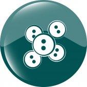 Soyut parlak web düğme simgesine — Stok Vektör