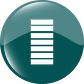 Battery icon web button — Stok Vektör