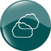 Pulsante icona verde nuvola — Vettoriale Stock