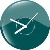Clock icon web button sign — Stock Vector
