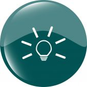 Light lamp sign icon. Idea symbol. Light is on. Web button — Stock Vector