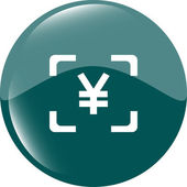 Yen JPY sign icon. web app button. web icon — Stock Vector