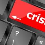 Crisis risk management key showing business insurance concept vector — Stock Vector #71059851