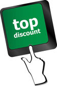 Top discount concept sign on computer key vector — Stock Vector