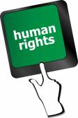 Arrow button with human rights word vector — Stock Vector