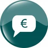 Иконка Интернет на облаке с евро евро деньги знак вектор — Cтоковый вектор
