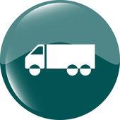 Delivery truck sign icon. Cargo web symbol vector — 图库矢量图片