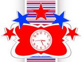Clock icon button vector — Stock Vector