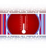 Thermometer web icon button vector — Stock Vector