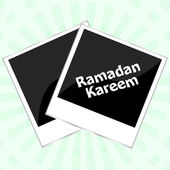 Ramadan kareem on old photo frame — Stock Photo