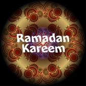 Arabic Islamic calligraphy of text Ramadan Kareem on abstract background — Stock Photo