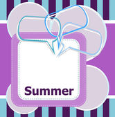 Poster Hello summer time and abstract speech bubbles set — Stock Photo
