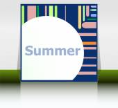 Hello summer poster. summer background. Effects poster, frame. Happy holidays card, happy vacation card. Enjoy your summer. — Stock Photo