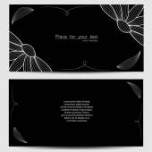 Vector template for wedding invitation, thank you card, save the date cards — Stock vektor