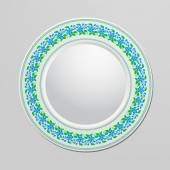 Decorative plate with floral ornament for interior design. Home decor. Vector illustration for your design. — Stockvektor
