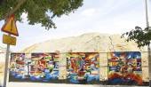 Bir duvara Graffiti — Stok fotoğraf