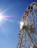 Waterwheel in the park Tibidabo — Stock Photo