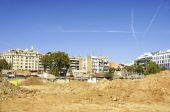 Deconstruction of the ring road, Barcelona — Stock Photo