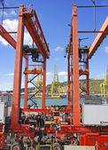 gantry crane on a pier — Stock fotografie