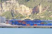 Containers in the industrial area — Stock Photo