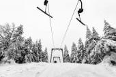 Ski lift in a ski resort — Stock Photo