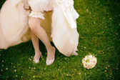 Wedding Accessories Brides — Stock Photo