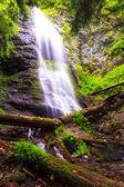 Yalynsky Falls, highest waterfall of Ukrainian Carpathians (1050 — Stock Photo