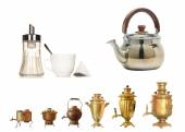 Evolution of a samovar — Stock Photo