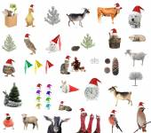 New year comes, animals — Stockfoto